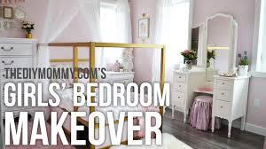 girls bedroom ideas a girls u0027 room design makeover in gold white and pink my kids