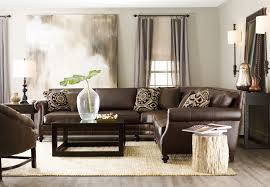 Traditional Sectional Sofas Living Room Furniture by Flooring Brown Leather Sections Sofa With Sisal Rugs And Dark