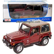 jeep maroon maisto special edition series 1 18 scale die cast car maroon