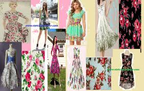 use floral print motifs