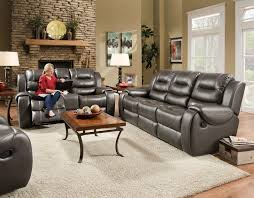 Motion Living Room Furniture Jamestown Smoke Motion Sofa And Console Love Seat By Corinthian 2