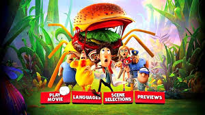 cloudy chance meatballs 2 2013 dvd movie menus