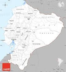 gray simple map of ecuador