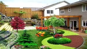 sloped landscaping backyard photo with amazing sloping backyards