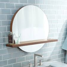 bathroom mirrors with lights and shelf best bathroom decoration