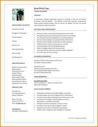 Philippine Resume Format Resume Examples For Accounting Jobs Entry Level Resume Sample