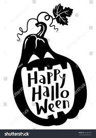 happy halloween cute pictures happy halloween handdrawing lettering composition pumpkin stock