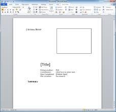 technical report word template technical report template techwriter