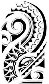 tribal clipart polynesian pencil and in color tribal clipart