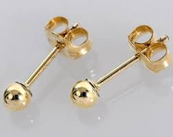 small gold stud earrings gold earrings etsy