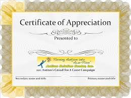 Appreciation Certificate Templates 10 Best Images Of Appreciation Certificate Of Recognition Template