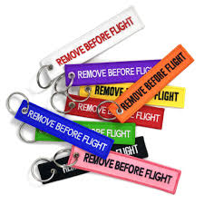 coloured key rings images Remove before flight keyrings png