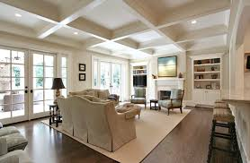 coffered ceiling paint ideas family room traditional with ceiling