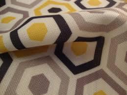 Orange Curtain Material Belgrave Geometric Print Curtain Fabric Art Deco Curtain Fabric