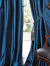 Teal Taffeta Curtains Faux Solid Taffeta Drapes Decorative Silk Valances Curtain