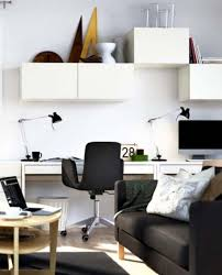 minimalist home office style with small space white desk black