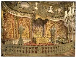 file royal bedroom herrenchiemsee castle upper bavaria germany
