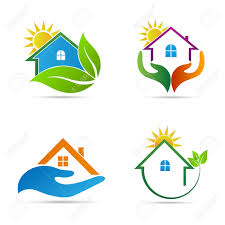 Home Design Logo by Home Icons Vector Design Represents Ecology Home Home Care And