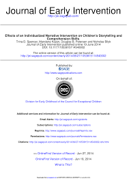 effects of an individualized narrative intervention on children u0027s