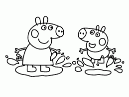 peppa pig coloring pages to print coloringstar