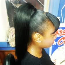 weave ponytail with bang yelp
