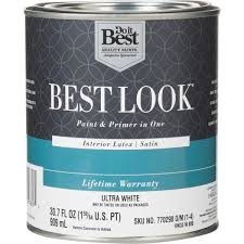 do it best best look latex paint u0026 primer in one satin interior
