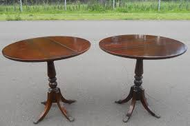dropleaf mahogany pedestal coffee tables by strongbow