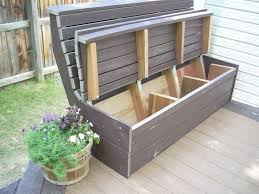 Diy Outdoor Storage Bench Seat by Great Exterior Storage Bench How To Build A Diy Outdoor Storage