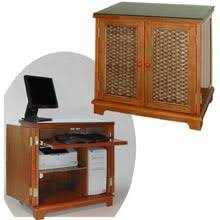Small Computer Cabinet Wicker And Rattan Office Furniture And Desk Items