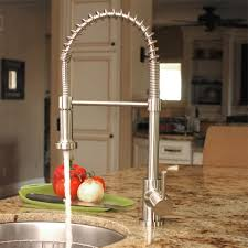 stainless steel pull kitchen faucet fontaine lnf rspk ss residential pull kitchen faucet