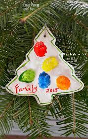 fingerprint tree salt dough ornament easy peasy and