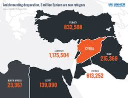 Map Of Syria Conflict by United Nations Nearly Half The Syrian Population Now Refugees
