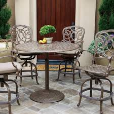 Wicker Bar Height Patio Set Balcony Height Bistro Patio Set Patio Outdoor Decoration