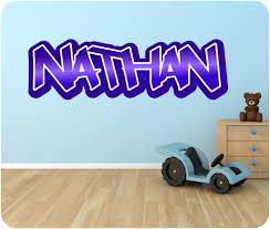personalised graffiti name wall sticker mural art boys girls personalised graffiti name wall sticker mural art boys