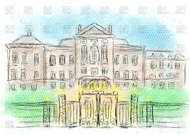 kennington palace kensington palace royalty free vector clip art image 111330