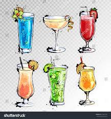 cocktail illustration hand drawn illustration set cocktails stock vector 511041364
