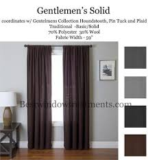 Wool Curtains Gentlemen Solid Wool Blend Curtain Panel Available In 4 Colors