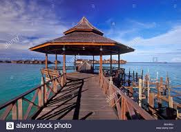 water bungalow at sipadan water village resort on mabul island