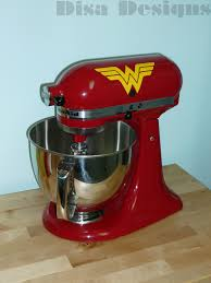 set of 2 wonder woman vinyl decals for the kitchenaid stand mixer