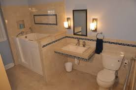 blue and beige bathroom bathroom ideas with beige walls brown concrete wall and floor