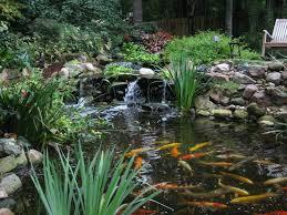 Waterfall Landscaping Ideas Triyae Com U003d Backyard Koi Pond Waterfall Various Design