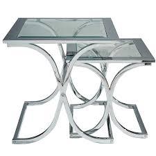 glass coffee table nest houston glass chrome nest of tables interior design pinterest