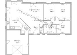 plan de maison plain pied 4 chambres avec garage beau plan de maison plain pied 4 chambres avec garage idées de