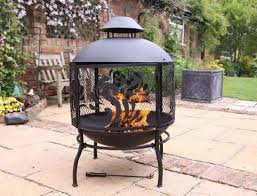 Steel Fire Pit - large steel fire pit with mesh scroll design savvysurf co uk