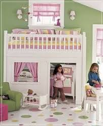 Is This Not The CUTEST Thing EVER Playhouse Loft Bed With Stairs - Cool little girl bedroom ideas