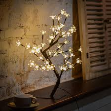 48led cherry blossom desk bonsai tree light table fairy twig lamp