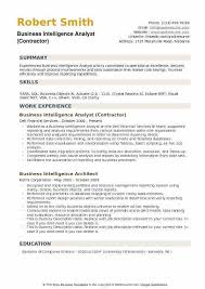 Business Intelligence Analyst Resume Business Objects Resume Sample Fico Professional Format For