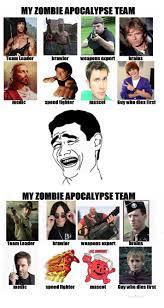 My Zombie Apocalypse Team Meme Creator - re my zombie apocalypse team
