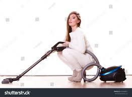 Vaccuming Woman Vacuuming House Funny Vacuum Stock Photo 455500891
