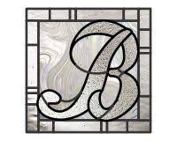 letter p up two font monogram logo initial stained glass